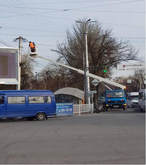 Аренда автовышек в городе Бишкек.