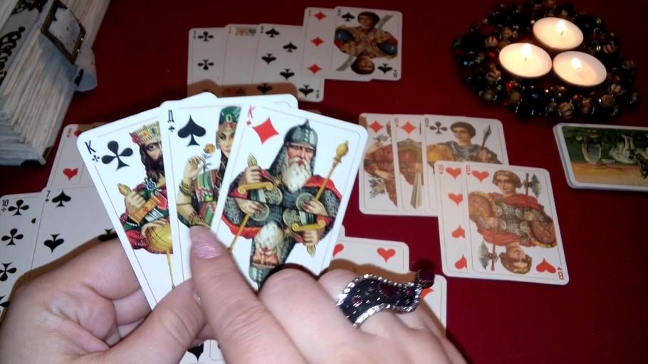 Гадаю на  игральных картах на будущее